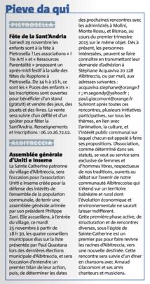 25/11/2014 - Corse Matin