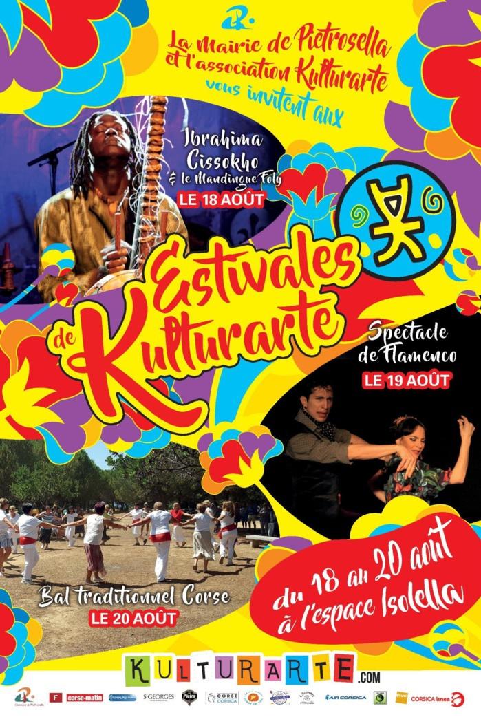 Du 18 au 20 Août, les estivales de Kulturarte arrivent à l'espace Isolella