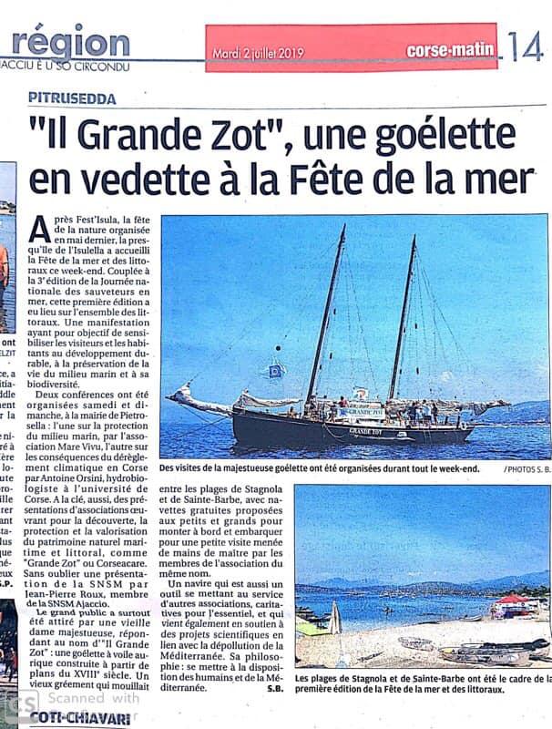 Retour sur le week-end de fête dédiée à la mer et à la protection du littoral à Pietrosella par Corse-Matin