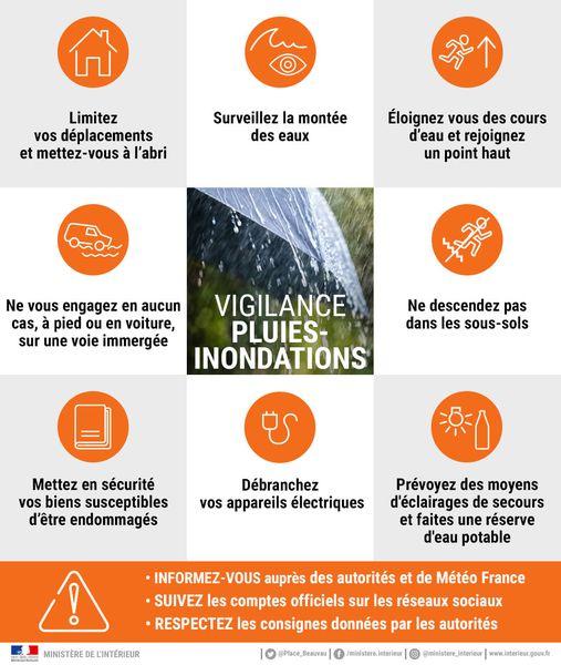 "⚠️ Vigilance orange pour ""orages et pluies-inondation"" !⚠️"