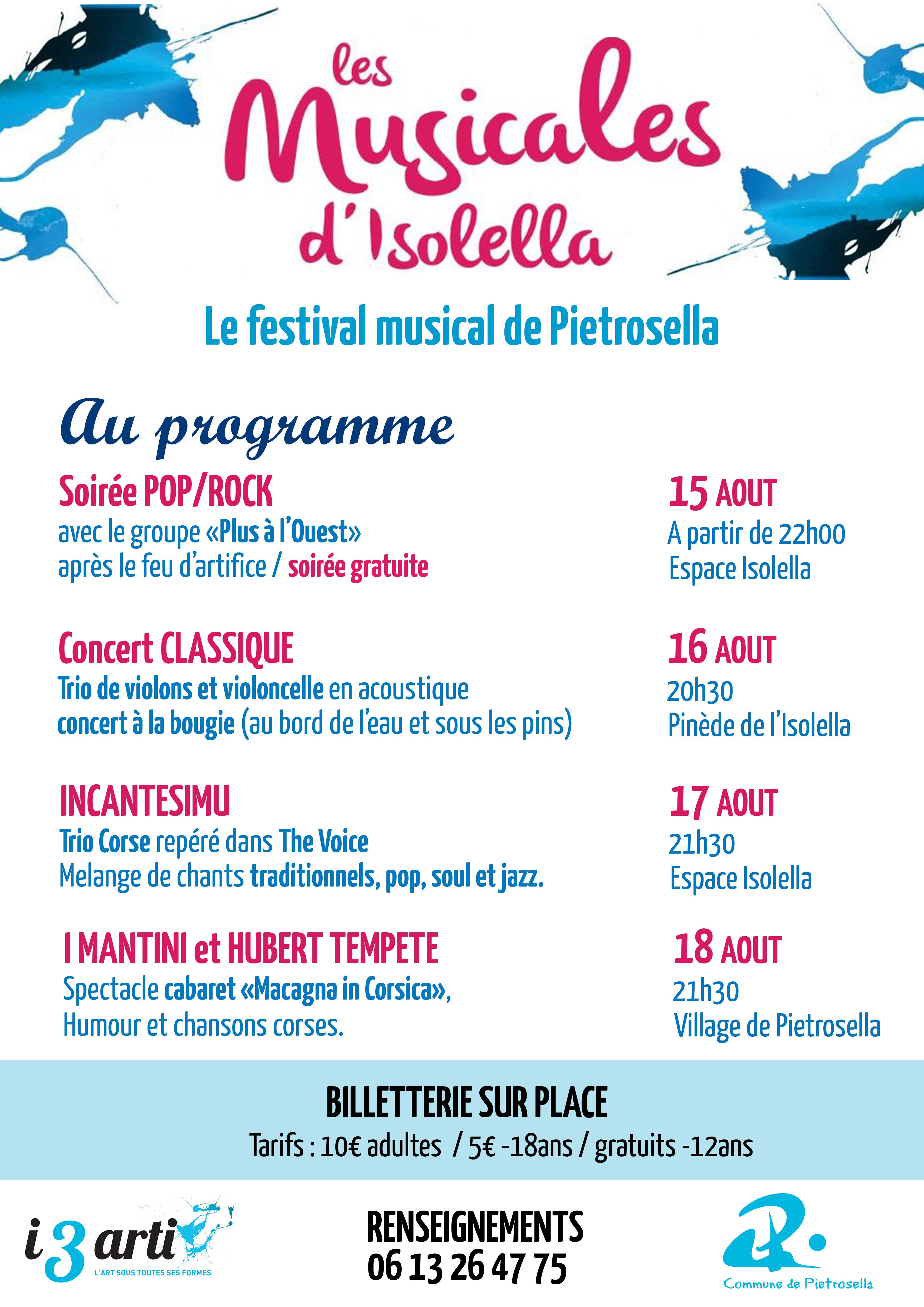 Les Musicales de L'Isolella : découvrez le programme