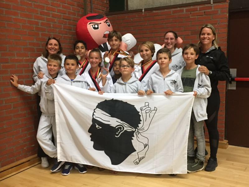Le Club de Taekwondo de Pietrosella en compétition internationale en Belgique !