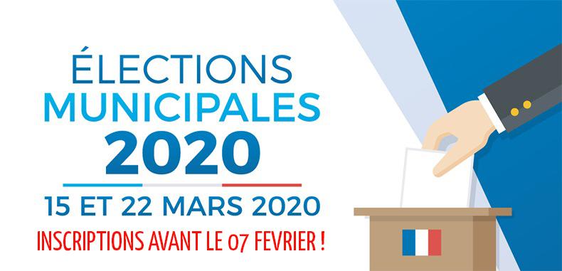 Elections municipales 2020 : pensez à vous inscrire sur les listes électorales avant le 07 février !