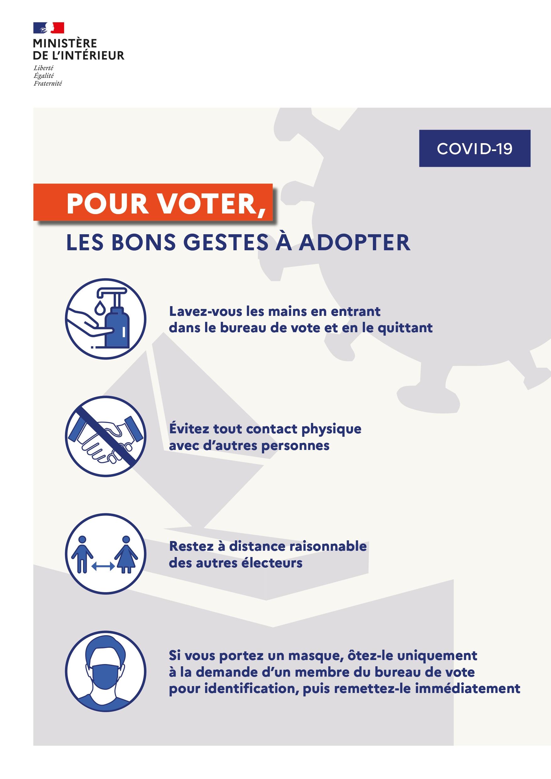 Elections municipales en situation d'épidémie : les mesures mises en oeuvre pour assurer les élections du 15 Mars
