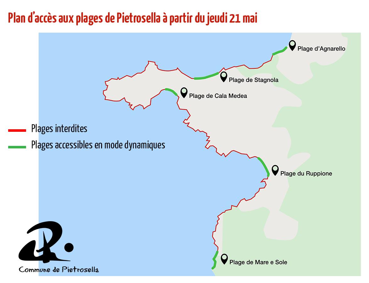 C'est officiel, Pietrosella rouvre certaines de ses plages jeudi 21 mai!