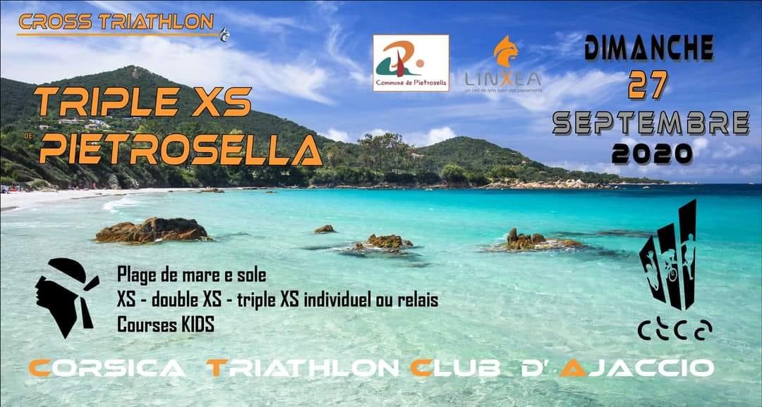 Compétition de Triathlon : Triple XS de Pietrosella le 27 septembre