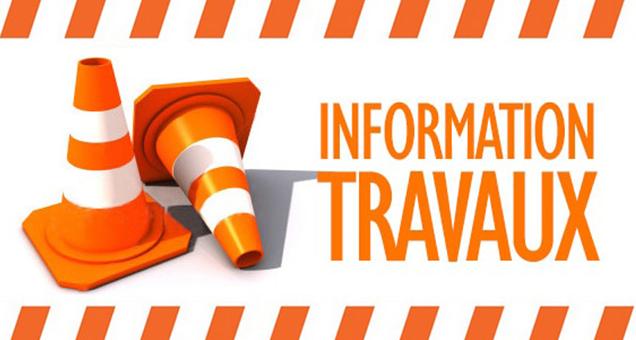 INFORMATION TRAVAUX - CIRCULATION ALTERNEE SUR DIFFERENTS SECTEURS