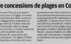 L'exemple de Pietrosella concernant la concession des plages aux mairies, dès l'été 2019!
