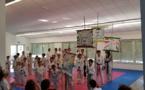 Démonstration de savoir-faire pour la fête de fin d'année du Club de Taekwondo de PIetrosella