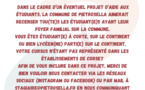 APPEL AUX ETUDIANTS DE LA COMMUNE