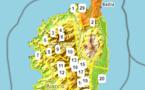 Carte intensité du risque incendie